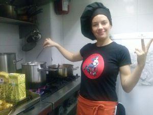 ¿Una actriz-cocinera?