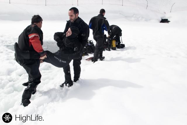 Llegando al hielo